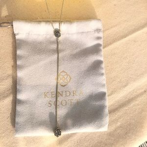 Kendra Scott Tomon necklace in gold and platinum